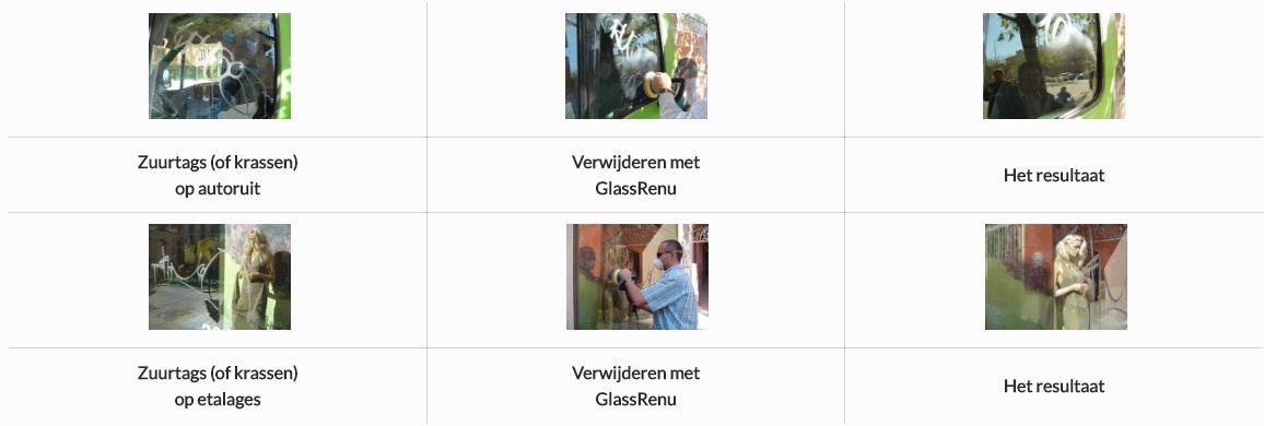 Krassen verwijderen op glas Zeeland